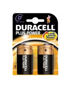 DURACELL PILA ALCALINA LR-20 BLISTER 2 UD (D) PLUS POWER