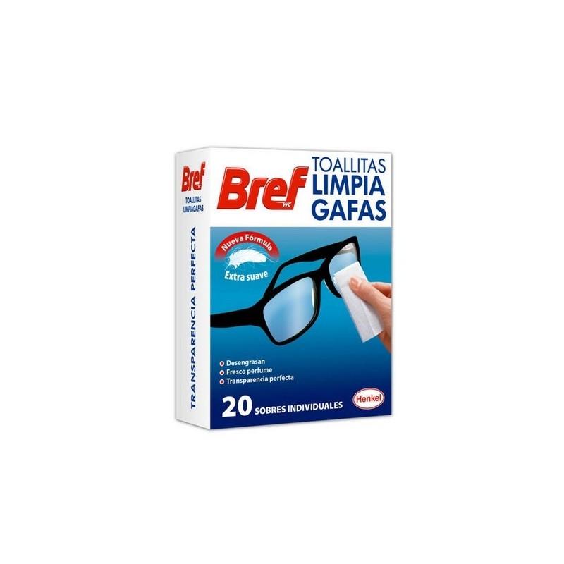 BREF TOALLITAS LIMPIA GAFAS 20 UDS