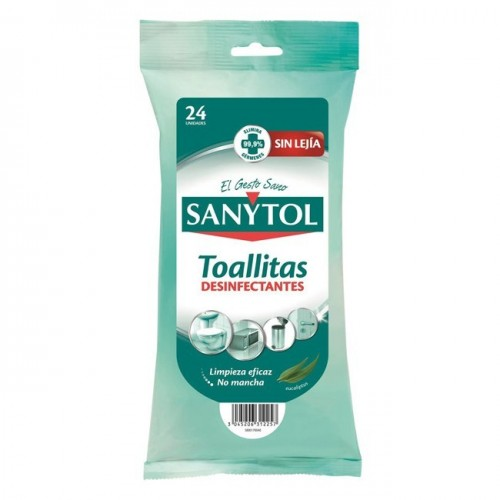 SANYTOL TOALLITAS LIMPIADORAS DESINFECTANTES 24U