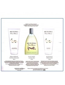 AIRE DE SEVILLA SET ROSAS BLANCAS EDT VAP+GEL+BODY (3X150ML)