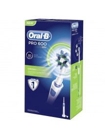 CEPILLO ELECTRICO ORAL B PRO 600 AZUL 3D CROSSACTION