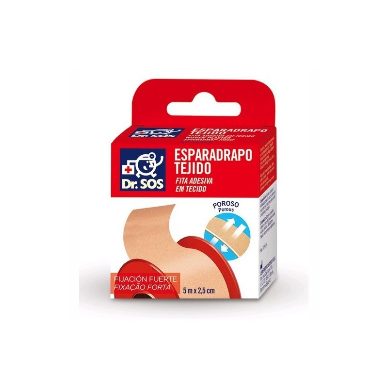 DR. SOS ESPARADRAPO TEJIDO PIEL 5x2,5 CM