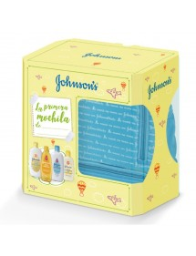 JOHNSONS BABY MOCHILA AZUL 4 PRODUCTOS