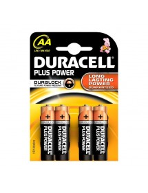DURACELL PILA ALCALINA LR-06 BLISTER 4 UD (AA) PLUS POWER
