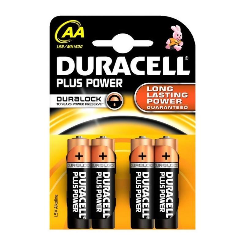 DURACELL PILA ALCALINA LR-06 BLISTER 4 UD (AA) PLUS POWER