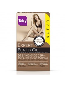 TAKY BANDAS DEPILATORIAS CORPORALES 12+8 UDS. BEAUTY OIL