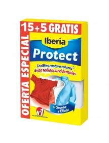 IBERIA TOALLITAS PROTECT COLOR 15+5 GRATIS