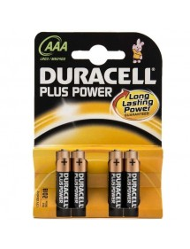 DURACELL PILA ALCALINA LR-03 BLISTER 4 UD (AAA) PLUS POWER