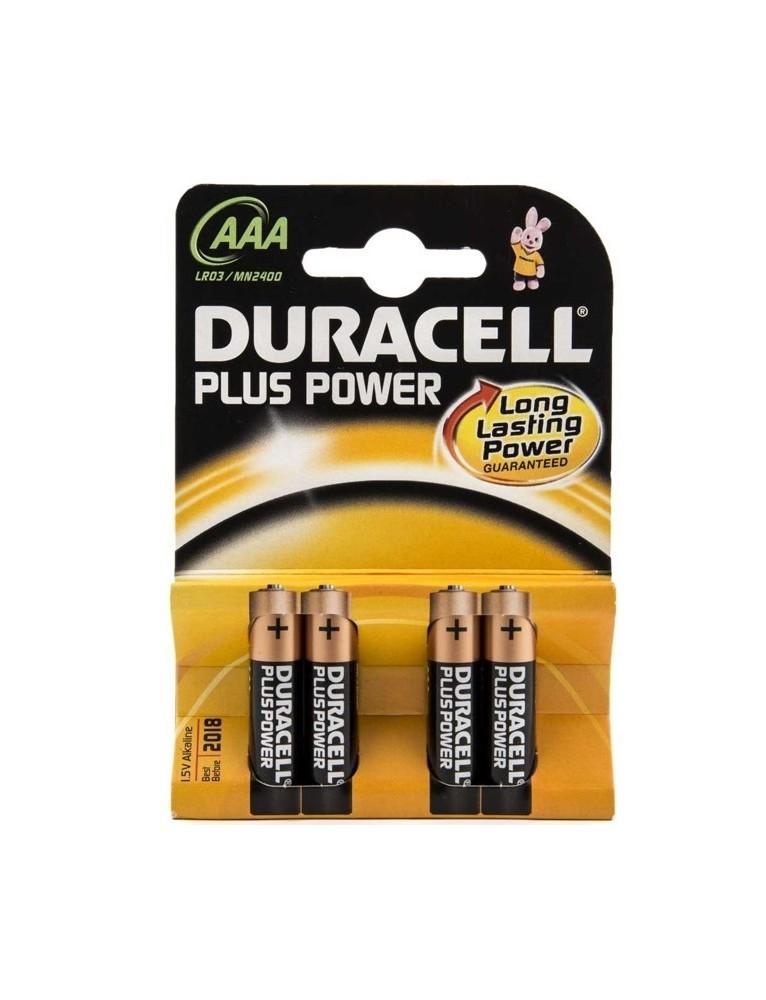 DURACELL PILA ALCALINA LR-03 BLISTER 4 UD (AAA) PLUS POWER