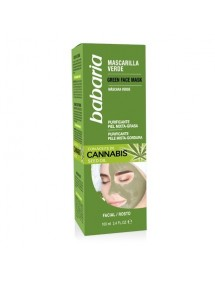 BABARIA MASCARILLA FACIAL VERDE 100ML CANNABIS