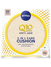NIVEA Q10 PLUS CUSHION 3EN1 TONO OSCURO 03 DARK 15GRS.