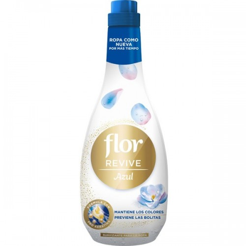 FLOR SUAVIZANTE CONCENTRADO 50 LAV. REVIVE 1200ML AZUL