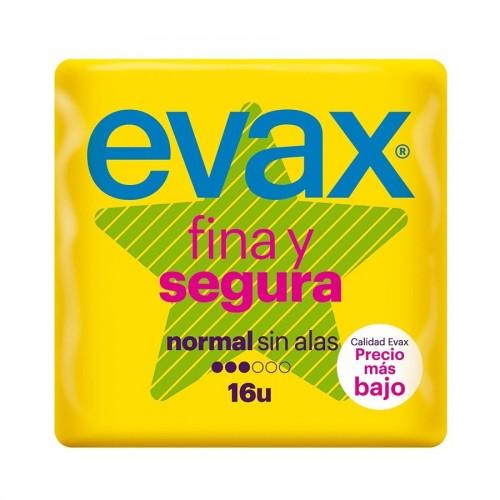 EVAX FINA Y SEGURA COMPRESA NORMAL SIN ALAS 16 UDS.