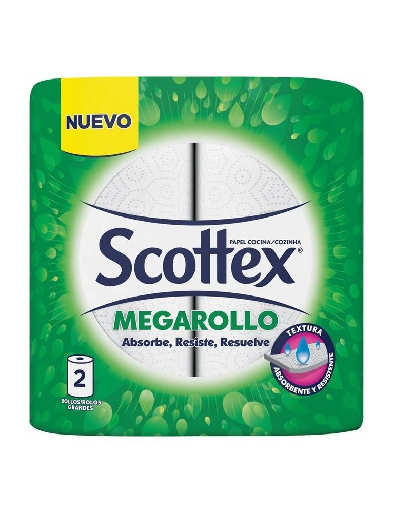 SCOTTEX PAPEL DE COCINA MEGAROLLO 2 UDS