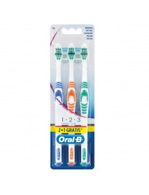 CEPILLO DENTAL ORAL-B CLASSIC CARE MEDIO 2+1 GRATIS