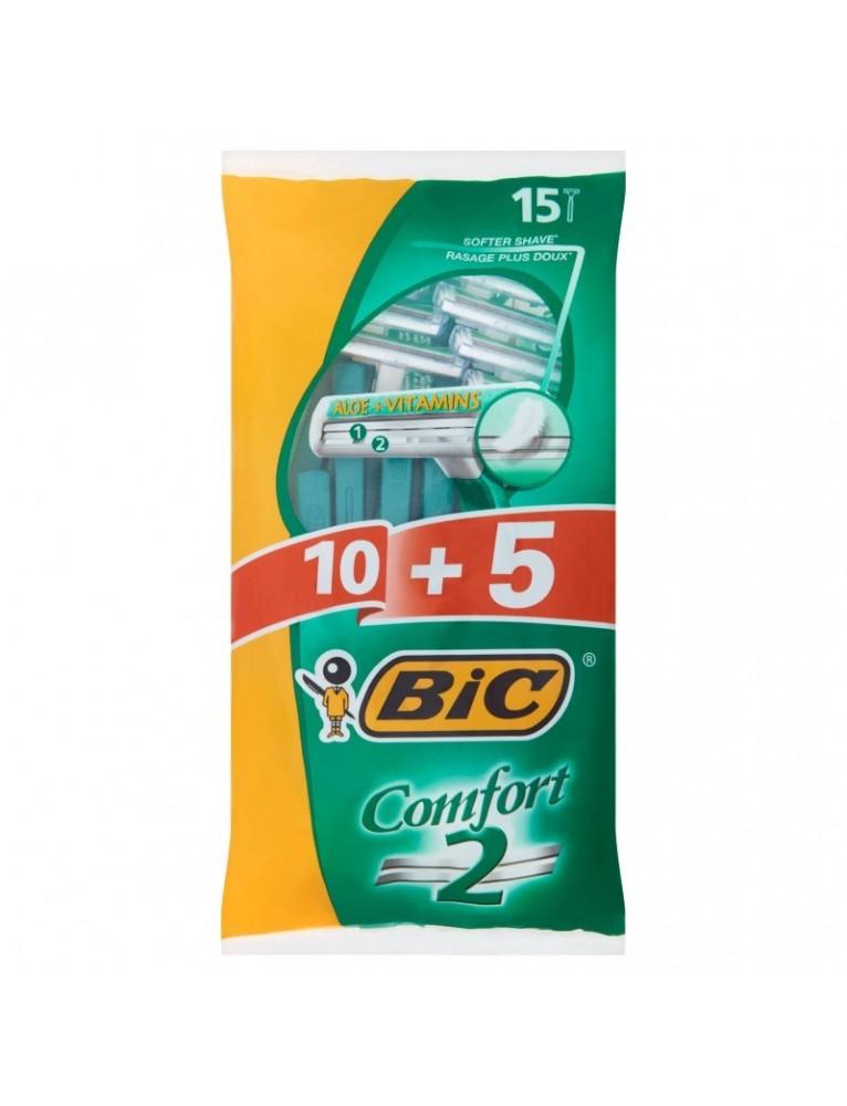 BIC MAQUINILLA DESECHABLE BIC 2H COMFORT 10+5 UDS