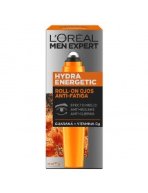LOREAL MEN HIDRA ENERGETIC ROLL-ON OJOS 10ML BOLSAS Y OJERAS