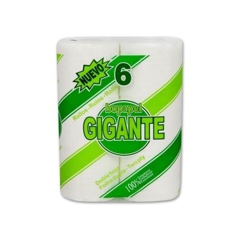 BOPAPEL GIGANTE 6 ROLLOS DOBLE CAPA