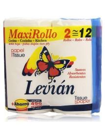 LEVIAN PAPEL DE COCINA 2 ROLLOS MAXI