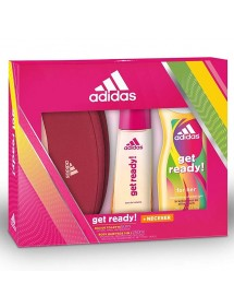 ADIDAS COLONIA WOMAN VAP 50ML GET READY+GEL 250ML+NECESER