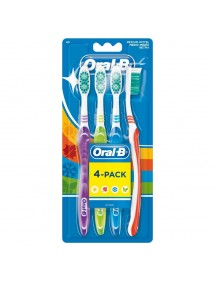 ORAL B CEPILLO DENTAL SHINY CLEAN PACK 4 UDS.