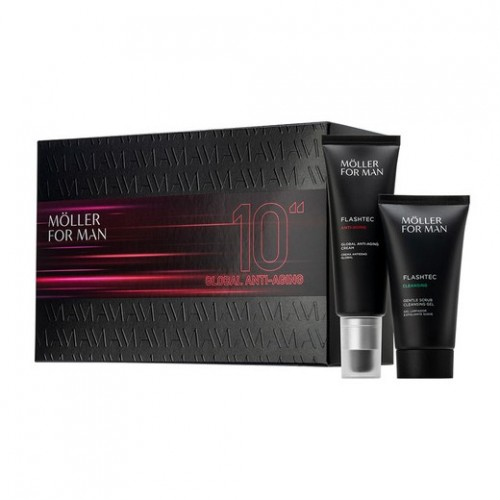 MOLLER FOR MAN CREMA ANTIEDAD 50ML+GEL EXFOLIANTE 50ML