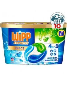 WIPP DETERGENTE CAPSULAS LAVADORA DISCS 10 UDS