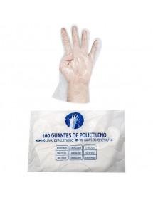 GUANTES DE PLASTICO PVC DESECHABLES BOLSA-100 UDS