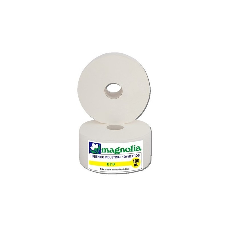 HIGIENICO INDUSTRIAL MAGNOLIA 2H 100M 16 ROLLOS