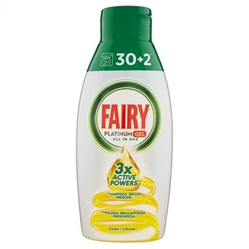 FAIRY GEL LAVAVAJILLAS 30+2 DOSIS LIMON
