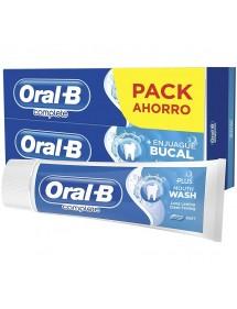 ORAL B PASTA COMPLETE +ENJUAGUE BUCAL (2X75ML)