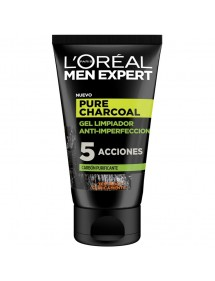 LOREAL MEN GEL LIMPIADOR PURE CARBON 100ML