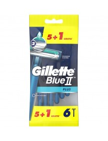 GILLETTE BLUE II PLUS 5+1 UDS. MAQUINA DESECHABLE