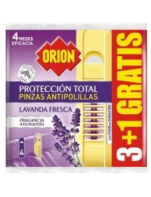 ORION ANTIPOLILLA PINZA LAVANDA 3+1 UDS.