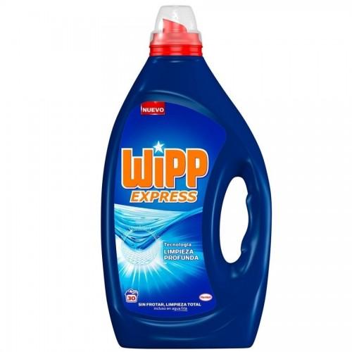 WIPP DETERGENTE LIQUIDO 30 DOSIS GEL AZUL ACTIVO