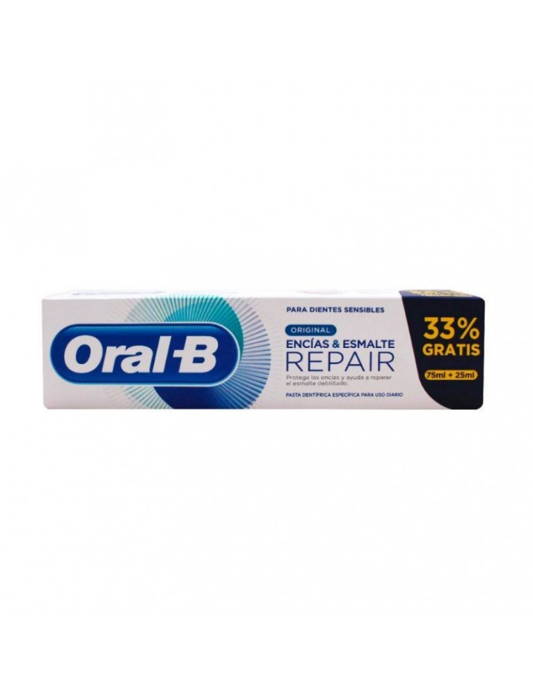 ORAL B PASTA REPAIR ENCIAS&ESMALTE ORIGINAL (75+25ML)