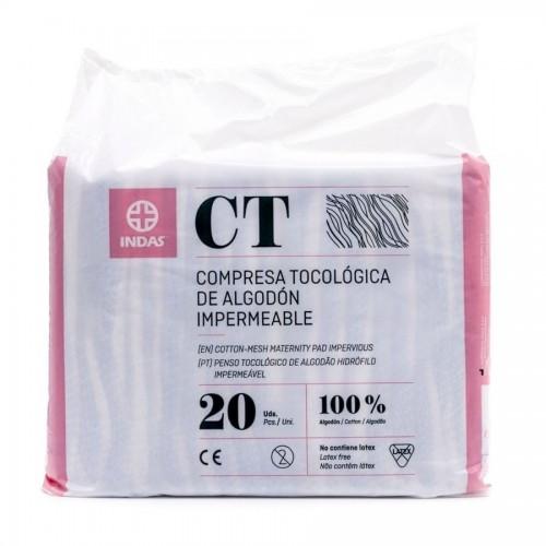 MATERNITY INDAS COMPRESA DE ALGODON IMPERMEABLE 20 UDS.