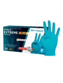 GUANTES NITRILO AZUL 100UD EXTREME  7 PEQUEÑA