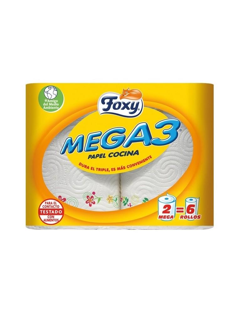 FOXY PAPEL DE COCINA MEGA3 2 ROLLOS PACK-2