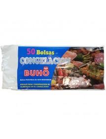 BUHO BOLSAS CONGELACION 30X40 50 UDS. TRANSPARENTE