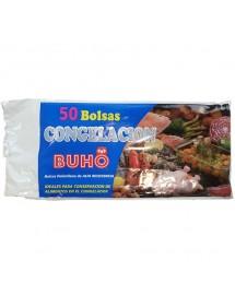 BUHO BOLSAS CONGELACION 25X35 50 UDS. TRANSPARENTE