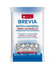 BREVIA BAYETA HIDROALCOHOLICA SUPERFICIES 10 UDS.