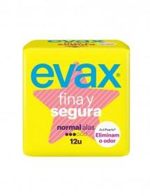 EVAX FINA Y SEGURA COMPRESA NORMAL CON ALAS 12 UDS.