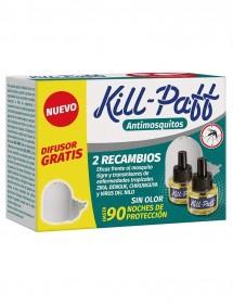KILL PAFF ANTI-MOSQUITOS RECAMBIO 2 UDS GRATIS + 1 APARAO