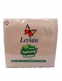 SERVILLETA NATURAL 100% 40X40 CM. 50 UDS. 2 CAPAS (LEVIAN)