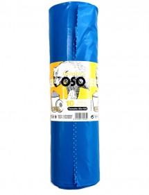 SACO BASURA 85X105 EXTRA AZUL 120L ROLLO 10 UDS. (EL OSO)