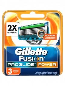 GILLETTE FUSION CARGADOR PROGLIDE POWER 3 UDS