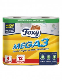 FOXY PAPEL HIGIENICO MEGATRIPLE 4 ROLLOS DECORADO