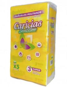 CARICIAS SUAVISSIMO PAÑUELOS DE PAPEL (5X100=500U) 3 CAPAS