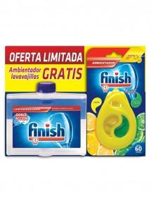 FINISH LAVAVAJILLAS LIMPIA MAQUINAS LIQUIDO 250ML+AMBIENTADO